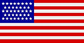 The American National Flag, 38 Stars, Navy Ensign